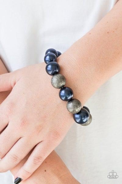 Humble Hustle - Blue Stretchy Bracelet