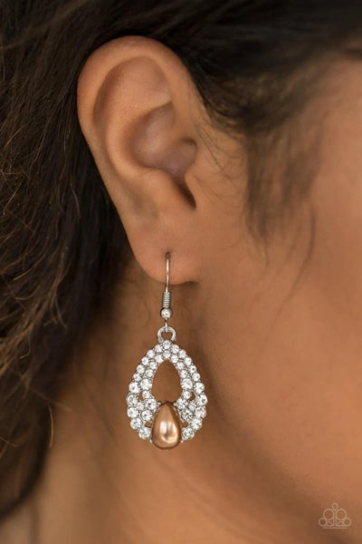 Share The Wealth - Brown Earrings