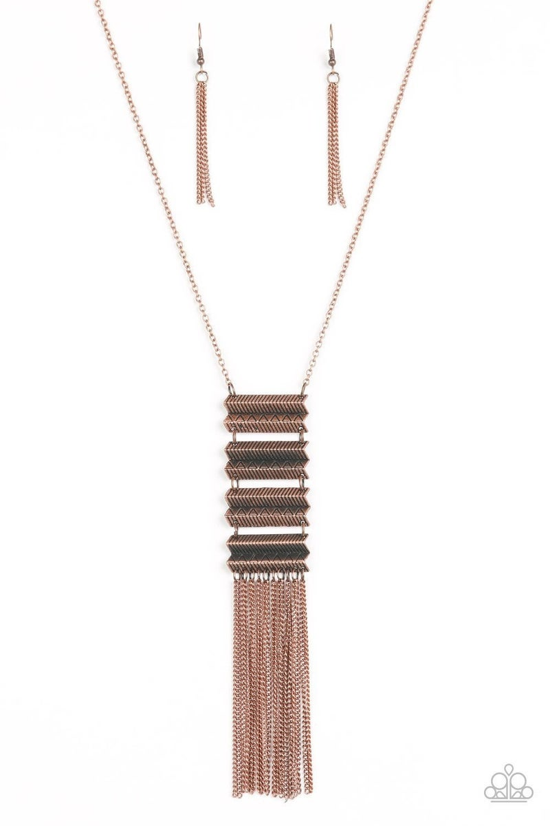 Watch Your Step - Copper Necklace