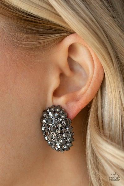 Daring Dazzle - Gunmetal Earrings