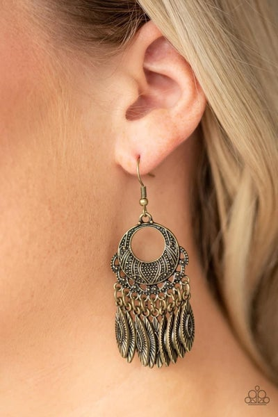 Country Chimes - Brass Earrings
