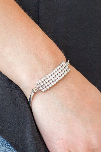 Top-Class Class - White Clasp Bracelet