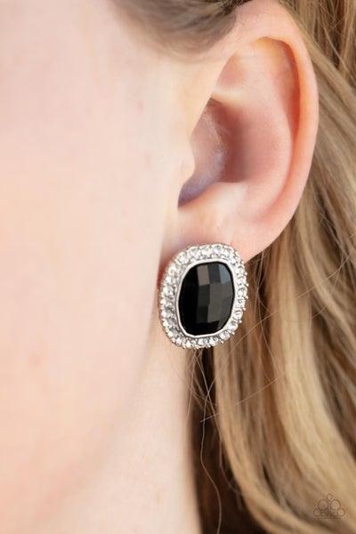 The Modern Monroe - Black Post Earring
