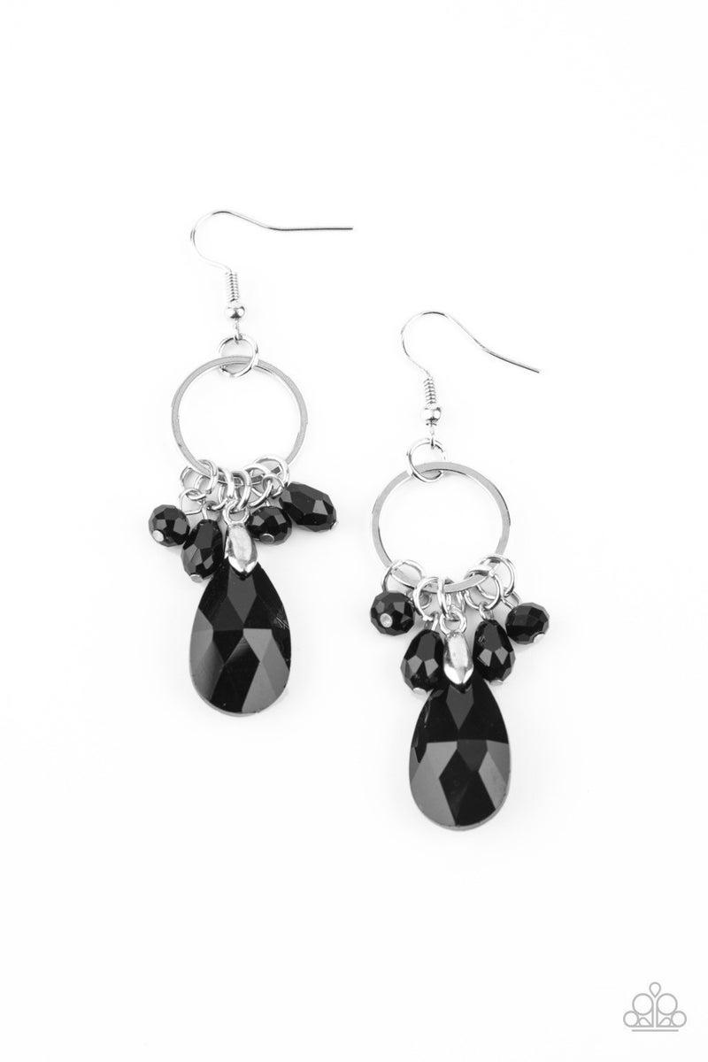 Unapologetic Glow - Black Earrings