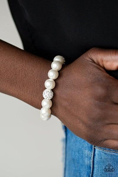 Cake Walk - White Stretchy Bracelet
