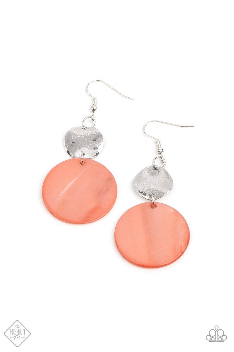 Opulently Oasis - Orange Earrings - April 2021 Fashion Fix