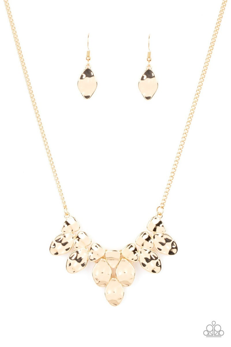 Rustic Smolder - Gold Necklace
