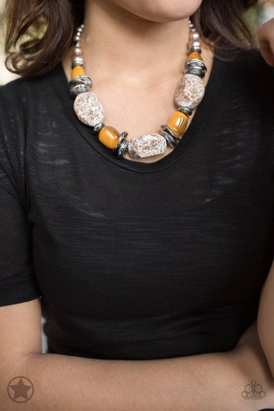 In Good Glazes - Orange Necklace