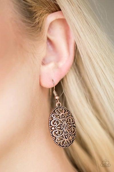 Wistfully Whimsical - Copper Earrings