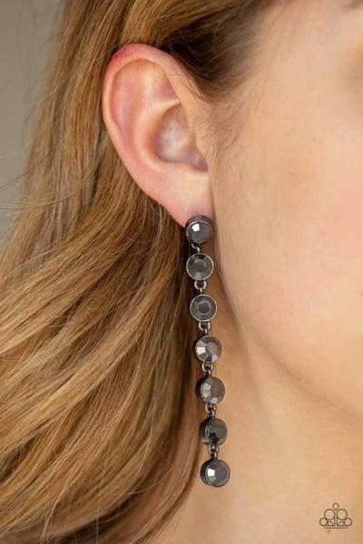 Dazzling Debonair - Gunmetal Earrings