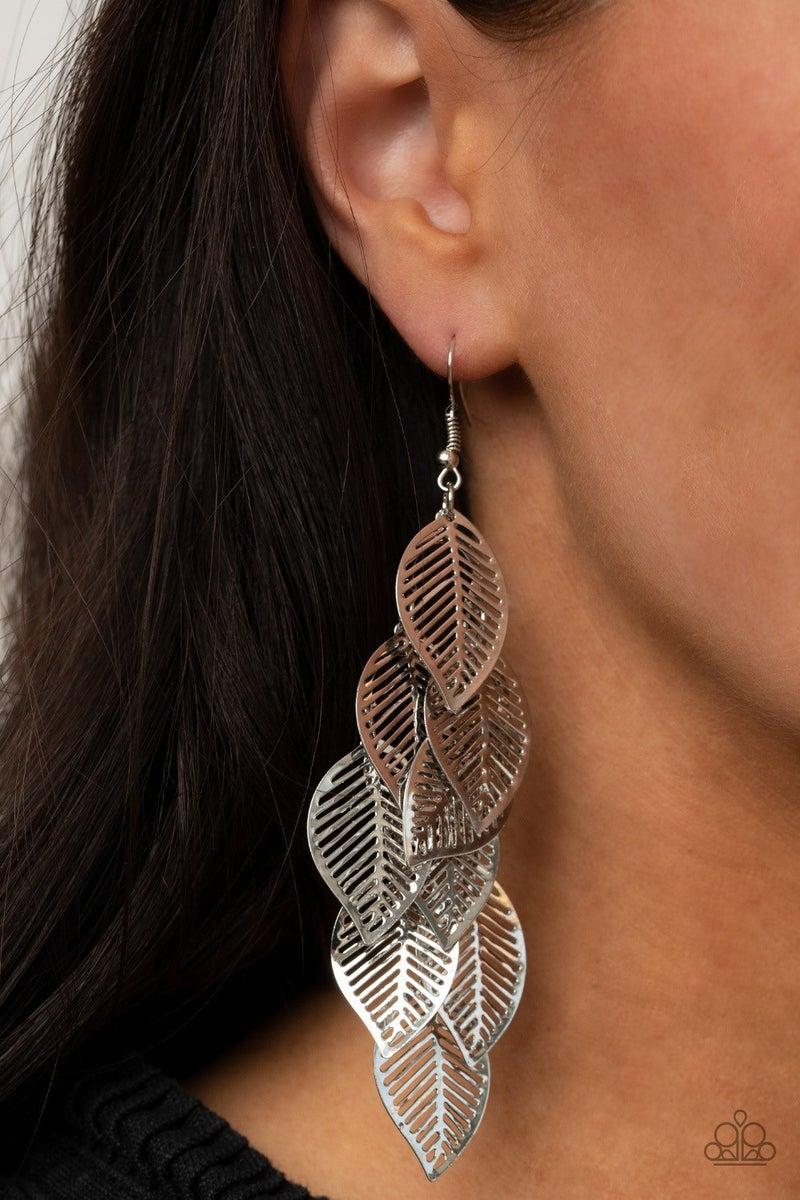 Limitlessly Leafy - Silver Earrings