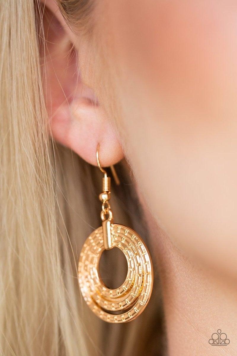 Open Plains - Gold Earrings