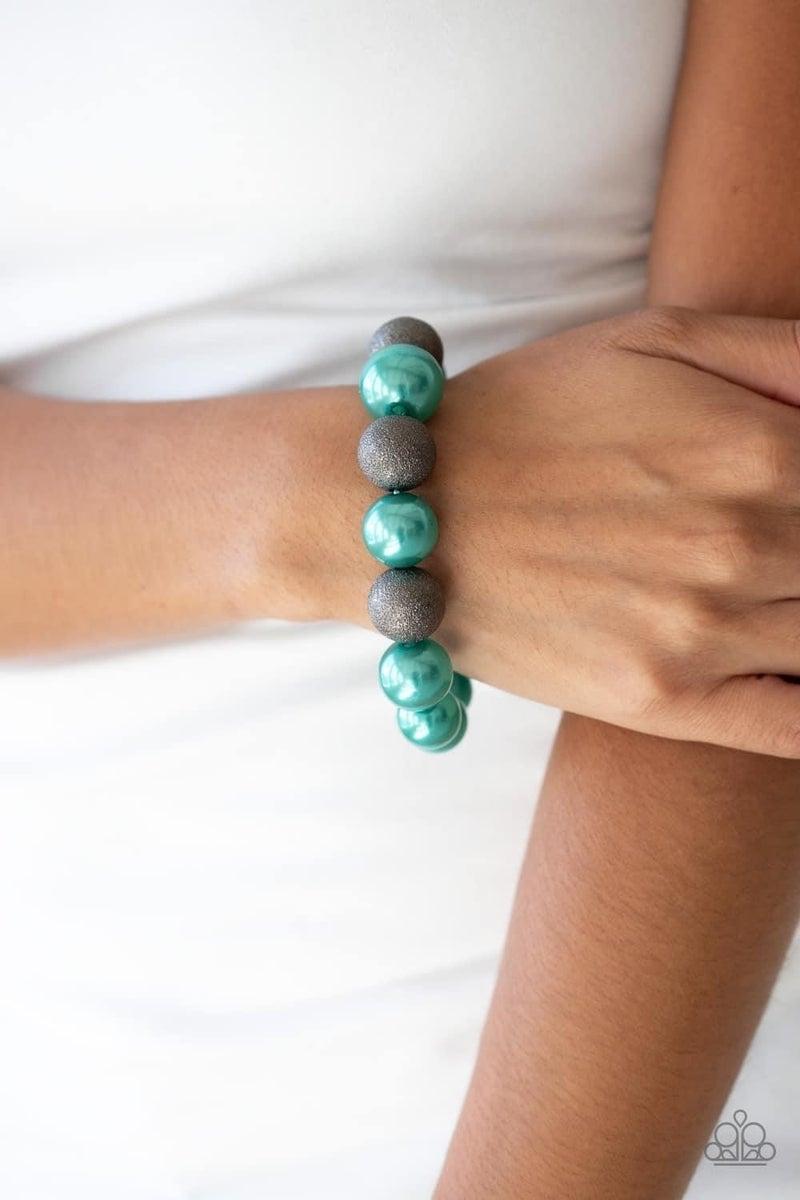 Humble Hustle - Green Stretchy Bracelet