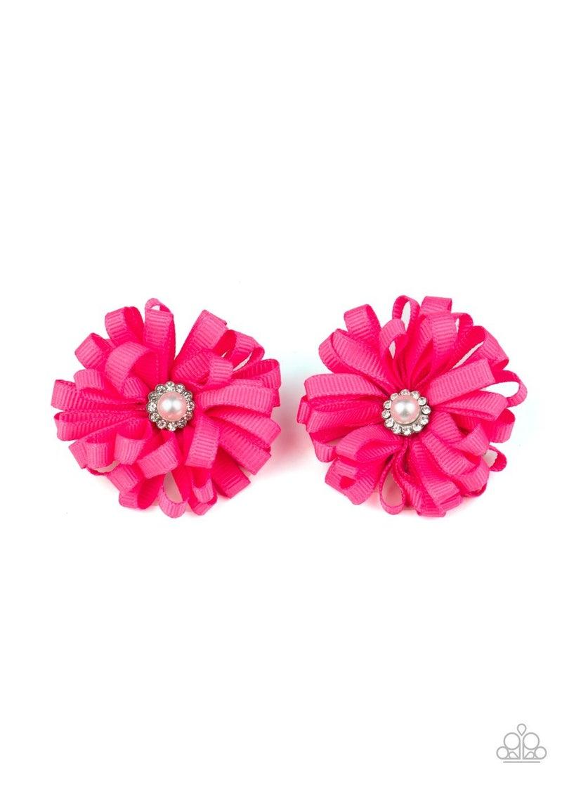 Ribbon Reception - Pink Hair Clip