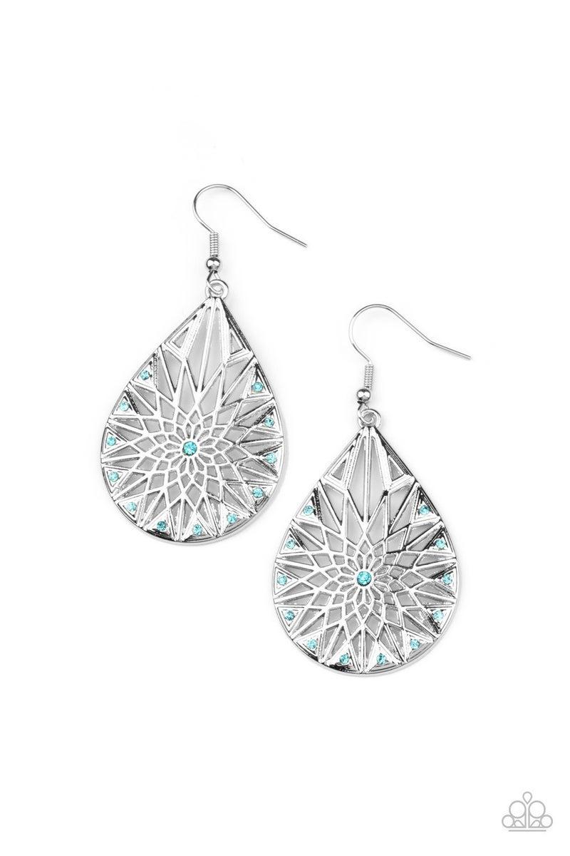 Icy Mosaic - Blue Earrings