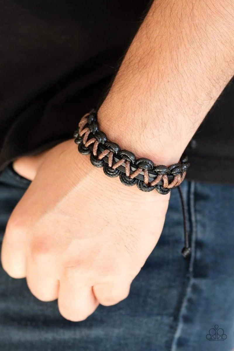 WEAVE It At That - Black Urban Bracelet
