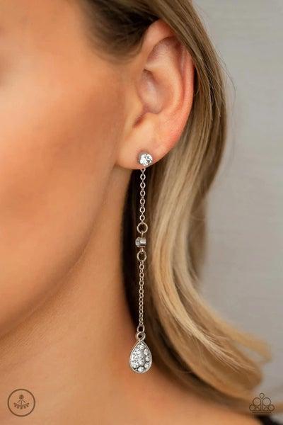 When It REIGNS - White Earrings