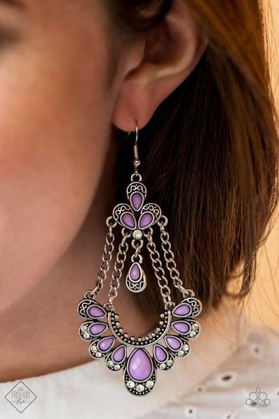 Unique Chic - Purple Earrings - July 2020 Fashion Fix