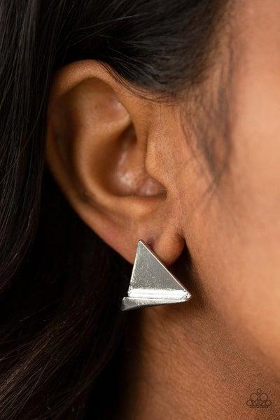 Die TRI-ing - Silver Earrings