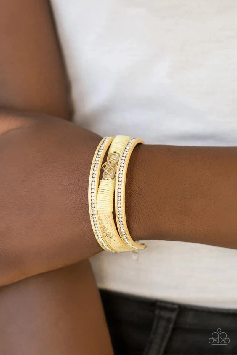 Hustlin Heart - Yellow Clasp Bracelet