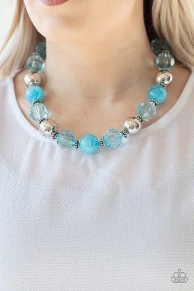 Very Voluminous - Blue Necklace