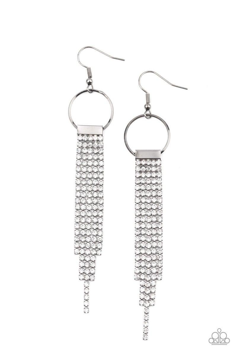Tapered Twinkle - White Earrings