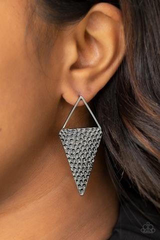 Have A Bite - Gunmetal Earrings