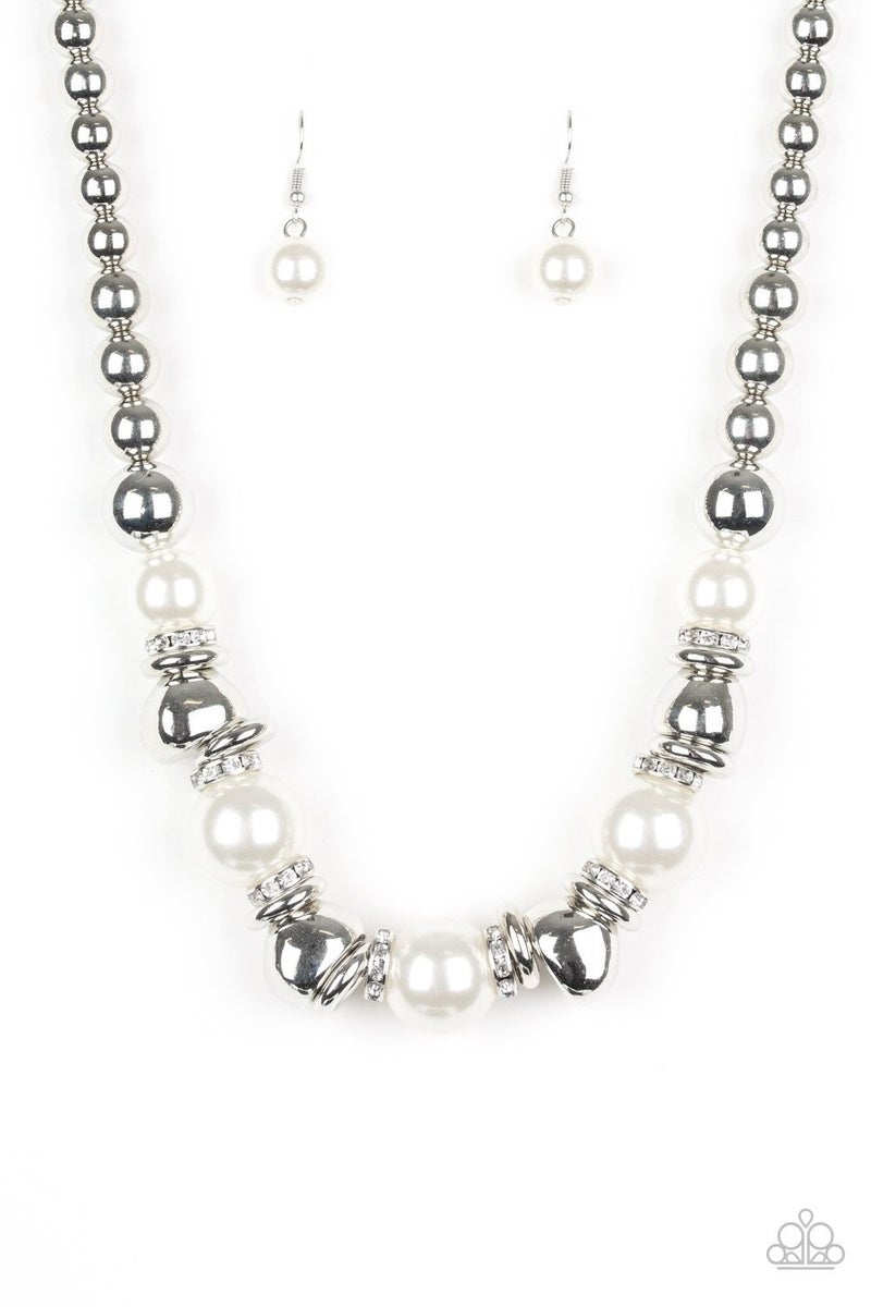 Hollywood HAUTE Spot - White Necklace