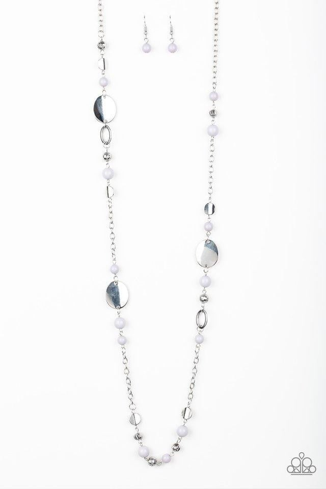 Serenely Springtime - Silver Necklace