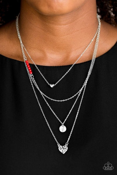Gypsy Heart - Red Necklace