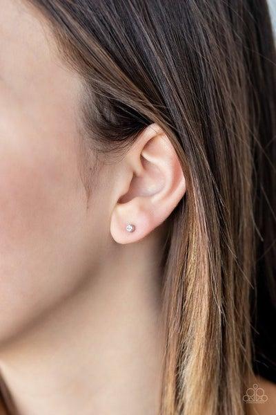 Dainty Decor - White Earrings