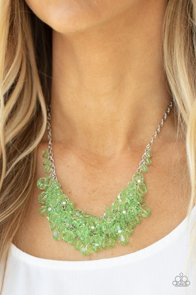 Let The Festivities Begin - Green Necklace