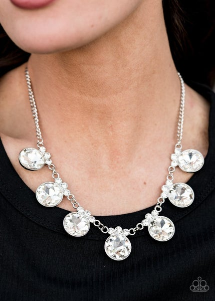 GLOW-Getter Glamour - White Necklace