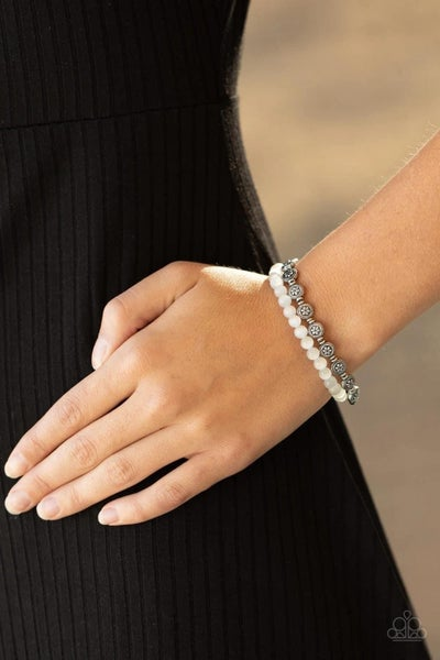 Dewy Dandelions - White Stretchy Bracelet