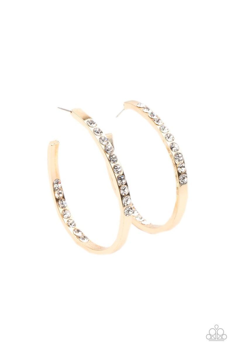 Borderline Brilliance - Gold Hoop Earrings