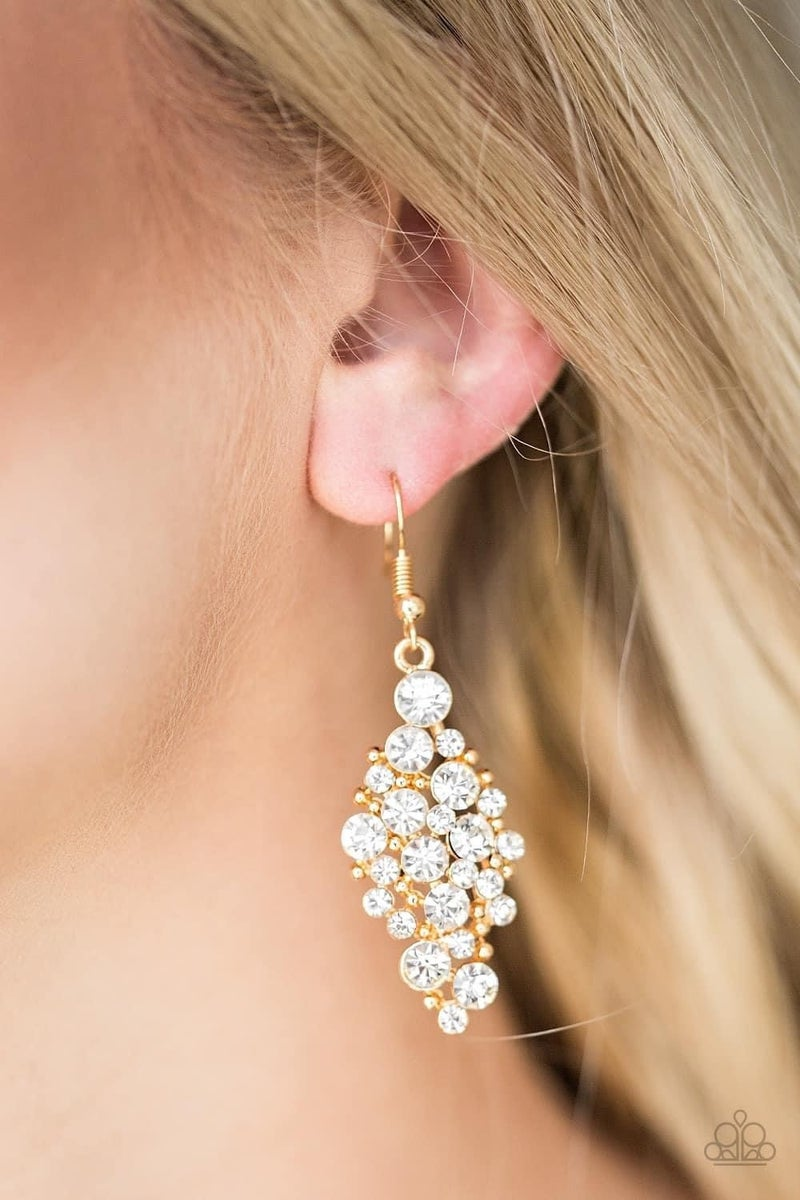 Cosmically Chic - Gold Earrings