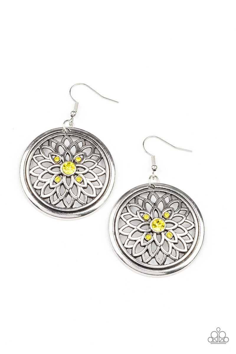 Mega Medallions - Yellow Earrings