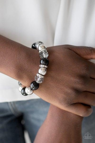 Camera Chic - Black Stretchy Bracelet