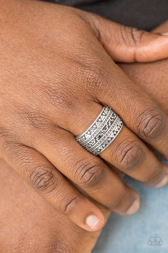 Textile Triumph - Silver Ring
