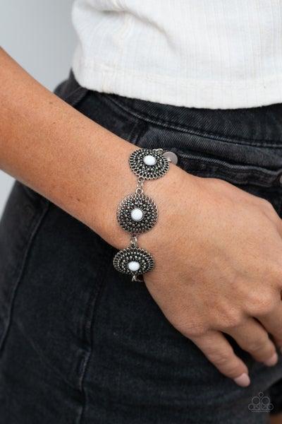 Mojave Mandalas - White Clasp Bracelet