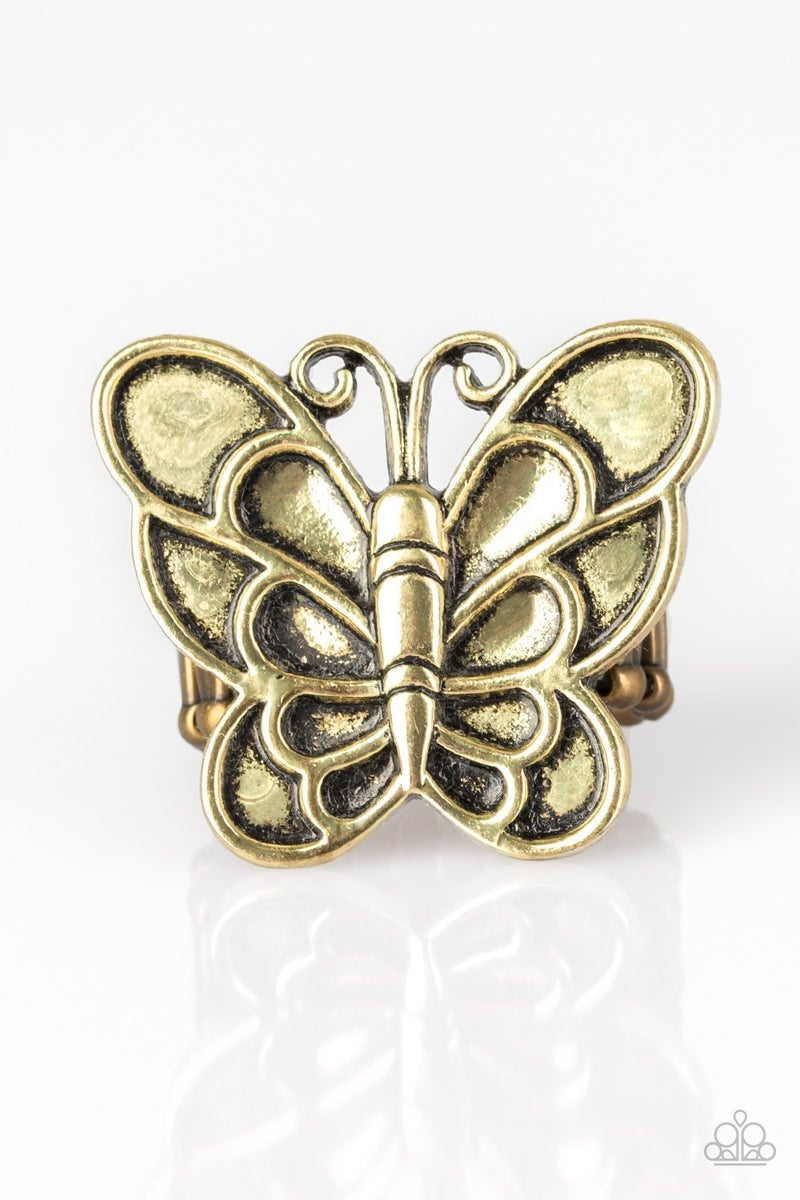 Sky High Butterfly - Brass Ring
