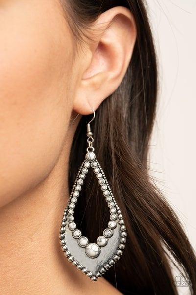 Essential Minerals - White Earrings