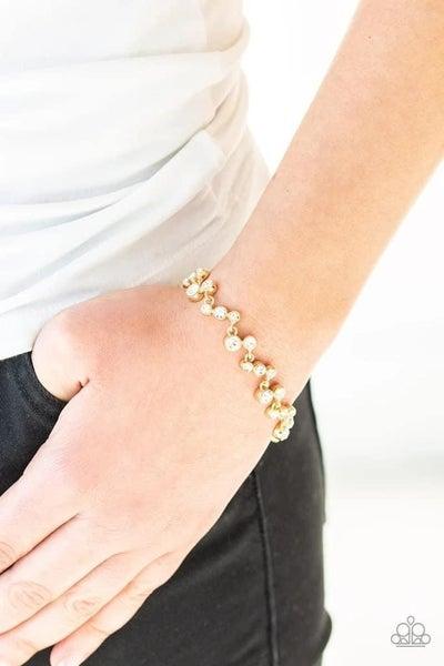 Starlit Stunner - Gold Clasp Bracelet