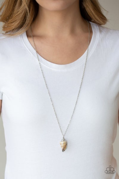 Breaking Out Of My Shell - White Necklace