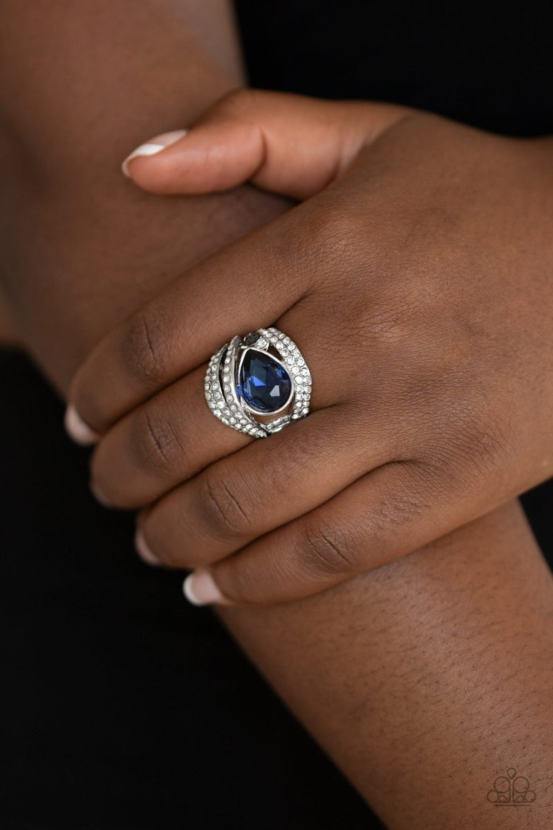 Stepping Up The Glam - Blue Ring