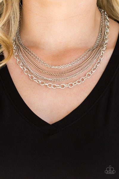 Intensely Industrial - Brown Necklace