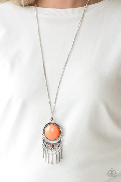 Rural Rustler - Orange Necklace