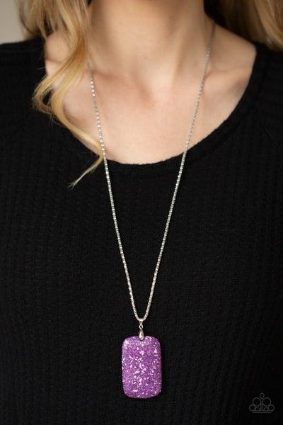 Fundamentally Funky - Purple Necklace