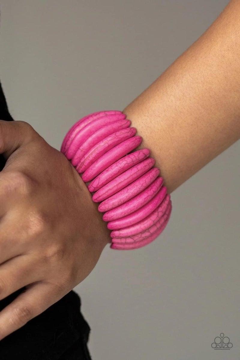 Naturally Nomad - Pink Stretchy Bracelet