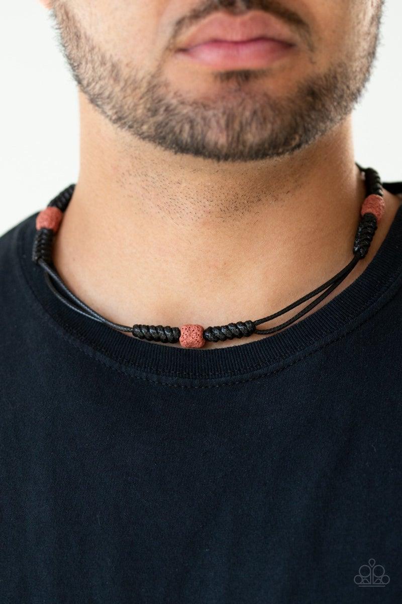Volcanic Vagabond - Red Urban Necklace